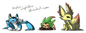 +Artwork+ X and Y Starters. by Stephys-Adoptables