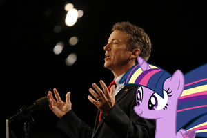 Rand Paul And Twilight Sparkle by RicRobinCagnaan