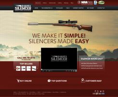 Dakota Silencer Website Design by creativeIdeas83