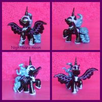 my little pony blind bag custom fim Nightmare moon by pickle2411