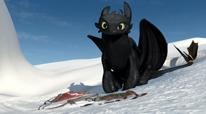Gift Of The Night Fury Screencap - Toothless by DashieSparkle