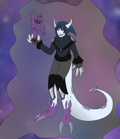 Galactic Ghost Summoner (Hatched Egg adopt) by CannibalHarpy