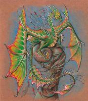 Tropical crystal dragon by AlviaAlcedo