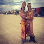 Golden nudes at burning man, 3 by TheMaleNudeStock
