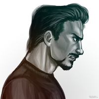 Tony Stark - Rainbow by vesiel
