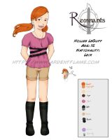 Remnants: Hollee LeGuff Character Sheet by Purplefire40