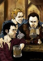 Trio of drunkards by TashinaJacob