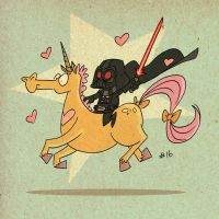 Darth Unicorn by tyrannus