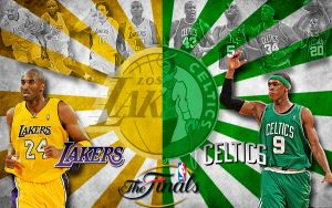 Lakers vs Celtics NBA Finals by rhurst