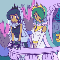 Princesses of Canterlot  ROUGH SKETCH by Looji