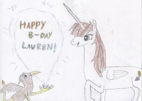 Happy Late Birthday, Lauren! by Wesdaaman