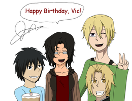 Happy B-Day, Vic -colored- by JessTalksAlot
