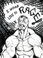 Inktober 2015 Day9 I would like to Rage! by AndrewScottKeller