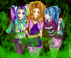 The Dazzlings (MLP HUMANIZATION) by Streamyyy