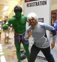 Quicksilver and THE HULK by R-Legend