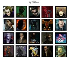 My 20 favorite villains by SillyInsaneGamer