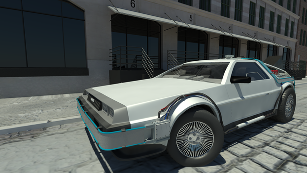 delorian bttf by datalist