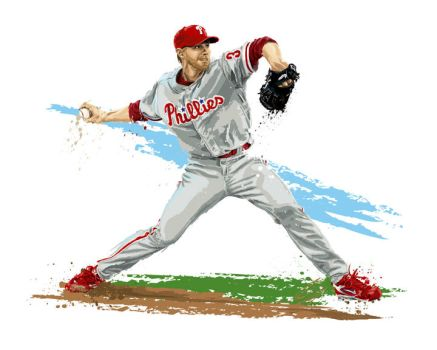 Phillies' Roy Halladay by DavidEWilkinson