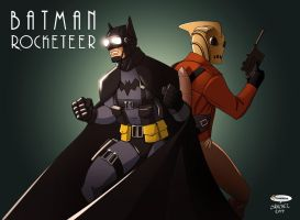Batman-Rocketeer by El-Mono-Cromatico