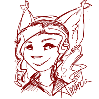 Amanda sketch by MythIsBack