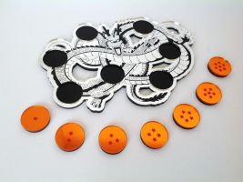 Shenron Dragon with Seven Dragon Balls 1 by ChinookCrafts