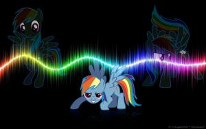 Rainbow Dash Wallpaper by TwilightWolfz