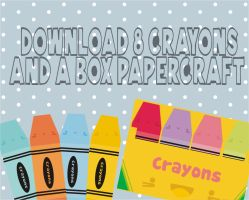 crayons and box by natalia-factory
