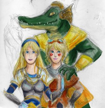 MGML heroes colored sketch by MoonMouseStudio