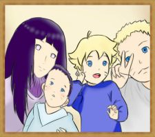 Uzumaki Family Portrait by Ekush