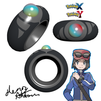 Pokemon X Y Mega Ring 3D Render by Hanimetion