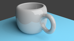 First Try with Blender - Cup by ARSugarPie