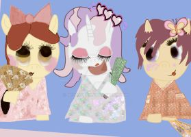 Three Little Mares from School by HCShannon