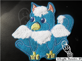Blue Baby Gryphon Embroidery Patch by Whyte-Raven