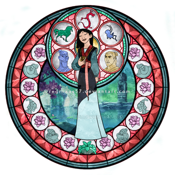 Mulan - Kingdom Hearts Stain Glass by reginaac57