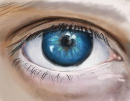 blue eye by jEROMEaNIMATIONS