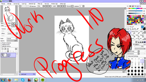 Cats Are Smart Art is Smart contest entry wip by Art-of-Sorrows