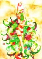 Christmas tree girl by muttiy