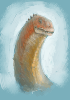 Malawisaurus Sketch by commander-salamander