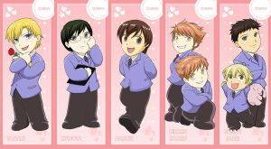 AX08: Ouran HSHC Bookmarks by laurbits