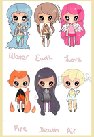 19. Elemental Themed Adopts CLOSED by coolkatadopts