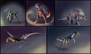 DinoHybrid Adoptables (CLOSED) by Taluns