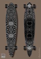 Longboard Sur-DecoEx-1 black by INDRIKoff