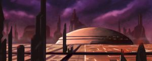 Speed painting - Coruscant by ismaelArt