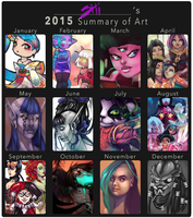 2015 Art Summary by RavenNoodle