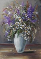 Wildflowers in Vase by Kasia1989