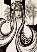 Leda and the Swan by apen