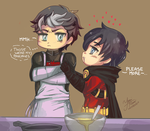 JayTim Chibi - Those were my pancakes... by YamiMana