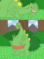 Sceptile eat berries in the forest 2-2 by MCsaurus