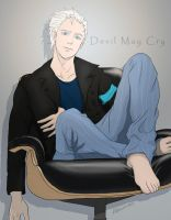 Vergil: A rest by L-Alice