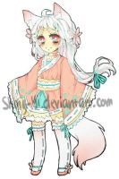 Adoptable: White Fox Girl Auction [Closed!] by Shing-Yi